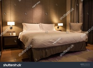 hotel room - brown theme