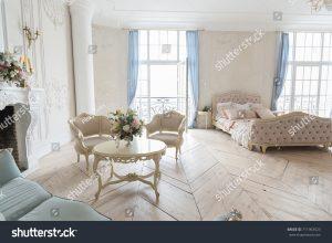 luxury light interior in baroque style
