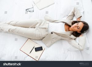 business woman resting