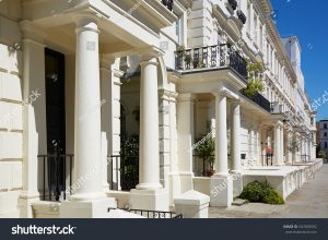 Luxury houses with pillars