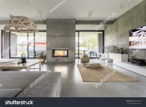 Interior with cement
