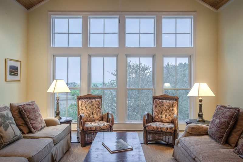 casement windows and comfy chairs